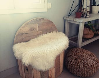 Ottoman, Chair wooden pallet, recycling, cocooning, living room, pillow