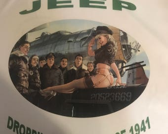 Jeep WWII Pin Up T Shirt