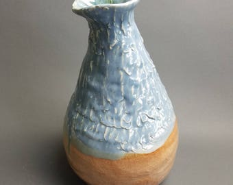 Handbuilt, pinched and coiled vase