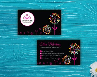 Paparazzi Business Card, Custom Paparazzi Accessories Business Card, Fast Free Personalization, Printable Business Card PP39