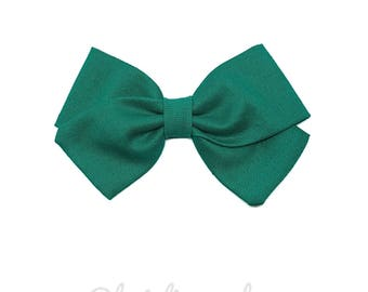 Kids hair clip or bow TURQUOISE baby headband