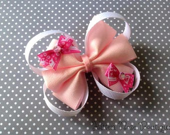 Princess Bow,Glitter Bow,Pink Bow,Hair Bow,Girls Hair Bow,Baby Girl Hair Bow,Baby Bows,Kids Hair Accessories,Boutique Bow,Photo Prop