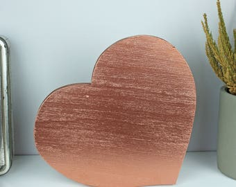 Rose gold wall decor, Rose gold office, Rose gold heart decor, Rose gold wood wall art, Rose gold wood decor, Rosegold wall art Wooden heart