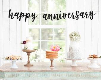 WEDDING ANNIVERSARY BANNER - Happy Anniversary Banner - Custom Anniversary Banner - Anniversary Party Decoration - Anniversary Party
