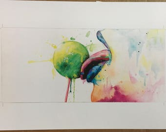 Lollipop print of original artwork by Madeline Sonnendecker
