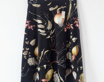 1970s Vintage Botanical Print Skirt