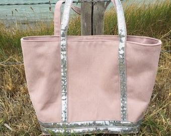 Tote bag, powder pink