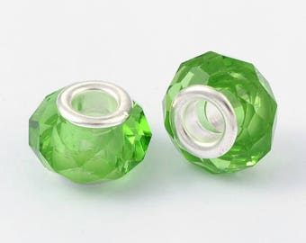 Bead Charms green 14 mm