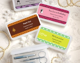 24 Personalized Travel Manicure Sets Favors - Set of 24