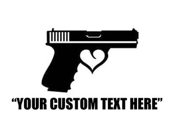 Custom Gun Decal Etsy - Custom gun barrel stickersgun barrel decals