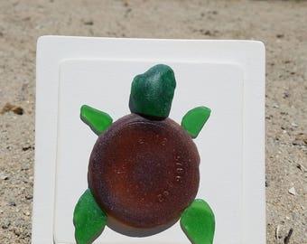 Turtle, Sea Glass Art