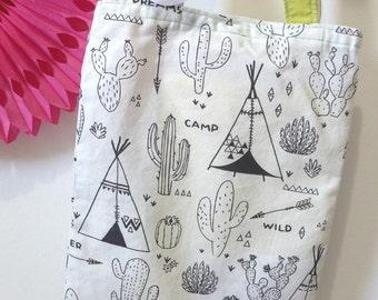 Bag, Tote bag, colorier_ for walks, school trips lutins_ Indian pattern