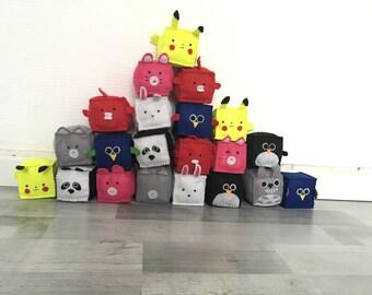 Cub' animals - animals felt Cube