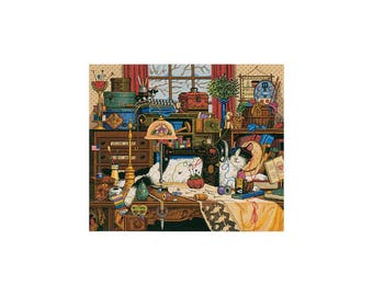 """Maggie the messmaker Gold Collection counted Cross stitch kit 18 Count 12""""X14"""""""