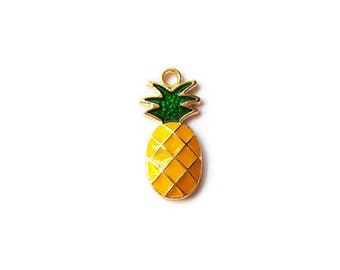 Beautiful colour pineapple charm