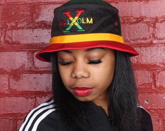 Cross Colours inspired Malcolm X fisherman's hat