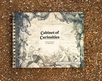 Cabinet of Curiosities De Historia Piscium Sketchbook -- (11 x 8.5 inches) Side-Bound Sketchbook