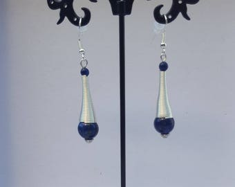 Trumpet lapis lazuli earrings