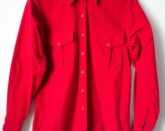 Classic Scarlett Red vintage L.L. BEAN  button up