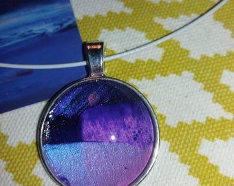 Unique 25mm purple necklace