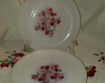 Fire King Anchor Hocking Pattern Primrose Bread Plate, Dessert Plate, Salad Plate,  Luncheon Plate, Side Plate - Qty. 7