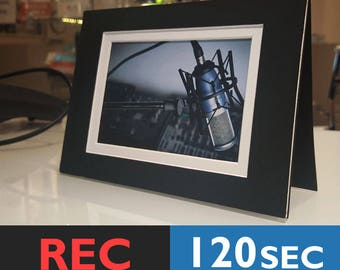 Black Voice Recordable Frame Card   Musical Photo Frame Card, Sound Recorder Card   120 Seconds