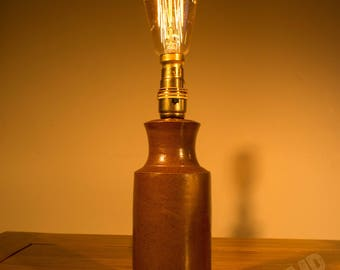Large Stoneware Bottle Lamp
