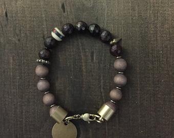 Garnet Beaded Bracelet