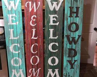 welcome signs , rustic doors farm house style, rustic home decor