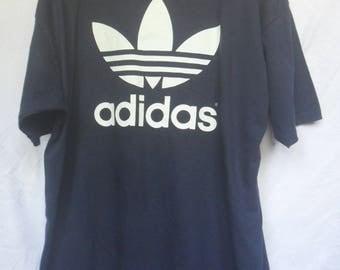 Vintage Adidas Trefoil Tshirt//Extra big logo//Single stitch