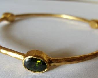peridot Bangle Bracelet