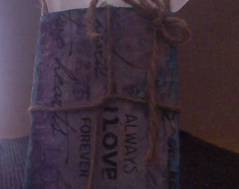 Handmade vintage gift card holder Up-cycled Cardboard Tissue Tube