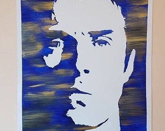 Liam Gallagher As You Were Limited Edition Hand-Painted Poster Painting A3
