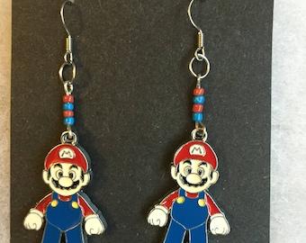 Handmade Mario Earrings