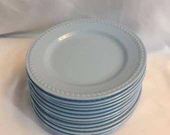 Salad Plate Homer Laughlin Kraft Blue  - set of 4