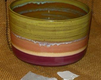 Multi-color Stoneware Serving Bowl