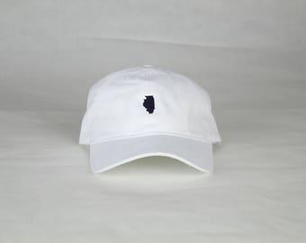 White Illinois Hat