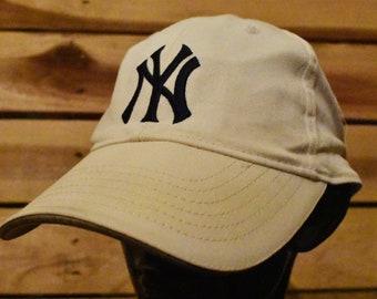 Vintage New York Yankees White and Black Hat