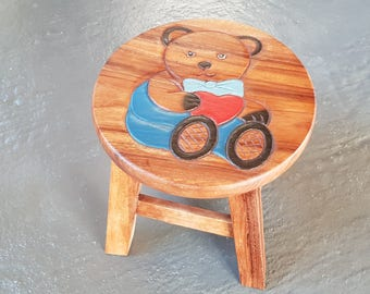 Solid wooden child stool
