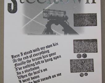 Steeltown Letterpress Print
