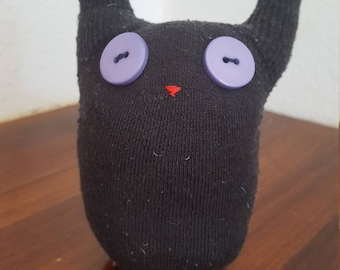 Black Button Eyed Sock Toy