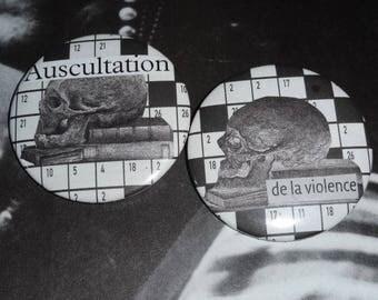 Auscultation violence, set of (collage)