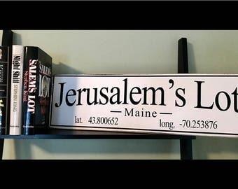 Stephen King Jerusalem's Lot Sign