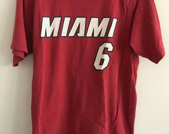 2340d92f2 Lebron james Etsy Miami Heat Lebron James Jersey T-Shirt ...