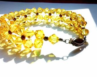 Yellow Swarovski Bracelet