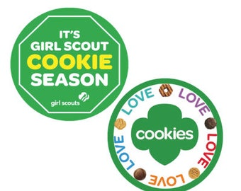 Girl Scout Cookie Button - Promotional Cookie Selling Button - Girl Scout Troop Button - Girl Scouts of the USA Button
