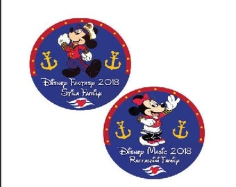 Captain Mickey Disney Cruise Inspired Button - Minnie Mouse Pin Disney Cruise Button - Disney Button - Mickey Mouse Pin - Fish Extender Gift