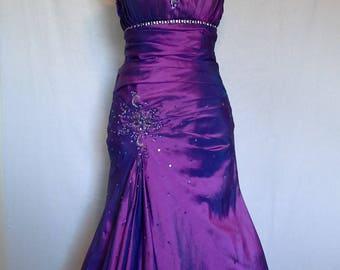 Rich Plum Evening Gown