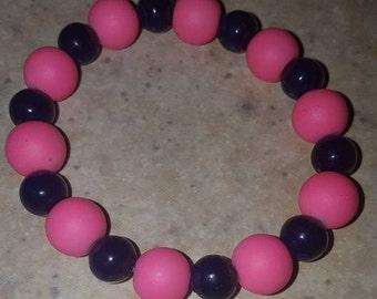 Girls bracelet, pink bracelet, birthday, gift, fun, handmade bracelet