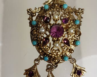 Vintage Hollywood Regency Style  Florenza Brooch